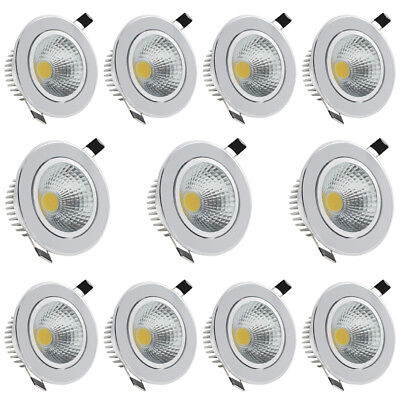 COB LED Recessed Ceiling Down Lamp Light 3W5W7W9W12W15W Cool Warm White + Driver