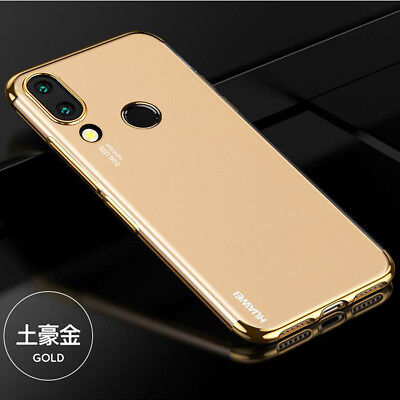 For Huawei Mate 10 Lite/P20 Pro Hybrid Chrome Plating Clear Silicone Case Cover