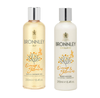 DUO Bronnley Orange & Jasmine – Bath & Shower Gel 250ml + Body Lotion 250ml