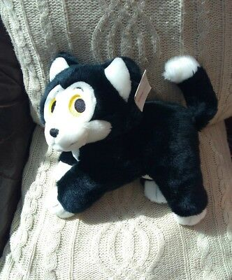 Large Disney Store Exclusive Figaro The Cat Pinocchio Soft Toy Beanie Plush