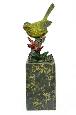 Vintage Style Pigeon or Dove Hot Cast Iron Metal Bronze & Gold Painted Figurine