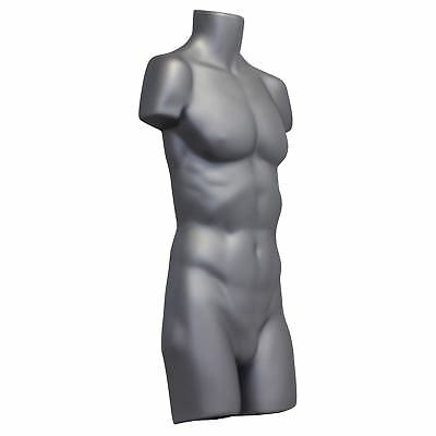 Full Male Hanging Plastic Body Form Mannequin Dummy Silver