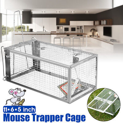 Humane Rat Trap Cage Live Animal Pest Rodent Mice Mouse Control Bait Catch Metal