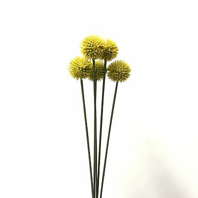 Artificial Australian Native Craspedia Billy Button Flower Stem Bunch - Yello...