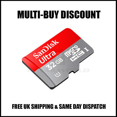AUTHENTIC 32GB SanDisk Ultra Micro SD SDHC Memory Card Adapter 98MB/s Class 10