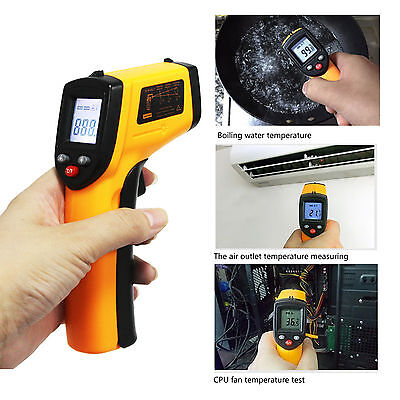 Digital Infrared IR Thermometer Temperature Non-Contact Laser Handheld Gun Point