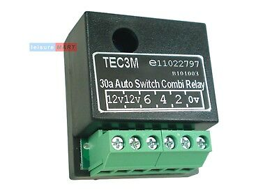 30 AMP Auto dual charging trailer towing towbar relay