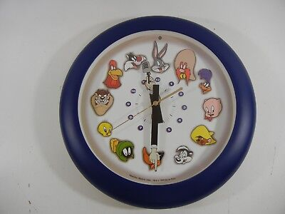 """Vintage 1999 12"""" Westclox Looney Tunes Wall Clock With Voices."""