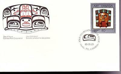 Canada 1989 FDC sc#1241 Masterpieces of Canadian Art-2 Harry Foster