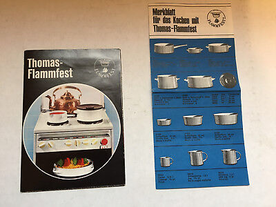 Thomas Flammfest Brochures or catalog, about 1969