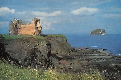 Vintage Postcard Tantallon Castle and the Bass Rock near North Berwick #T