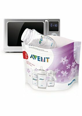 Philips Avent Microwave Sterilizing Bags, 5 count - New