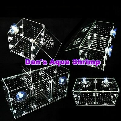 Aquarium High-Quality Acrylic Fish Shrimp Breeding Isolation Box 1.5mm hole