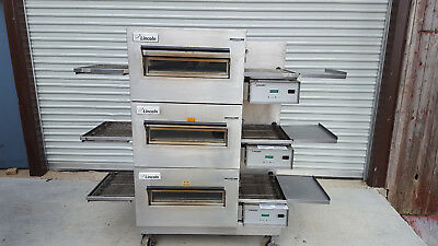 Lincoln Impinger 1132 Triple Stack Electric Conveyor Pizza Ovens 208Volt 3Phase