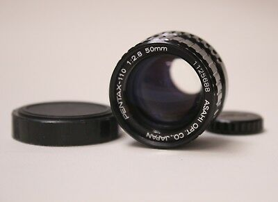 Pentax Asahi 110 1:2.8 50mm Lens With Lens Caps And Leather Case Made In Japan
