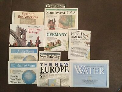 Mix Lot of 11 1990 National Geographic Traveler's Maps, Special places
