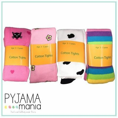 1x Girls Size 3-5 6-9 Winter Thick Cotton Fashion Tights Stockings Mixed Colours