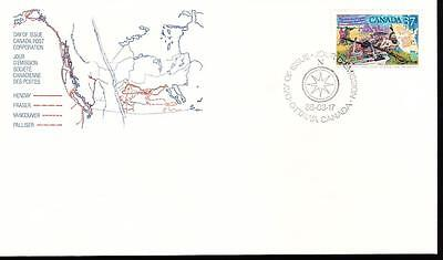 Canada 1988 FDC sc#1199 Exploration of Canada-1, Anthony Henday