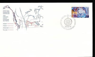 Canada 1988 FDC sc#1200 Exploration of Canada-1, George Vancouver