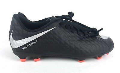 c7d012ca4abb3 NIKE JR. HYPERVENOM Phade III FG Soccer Cleats Black 852580-001 Size 4 Youth