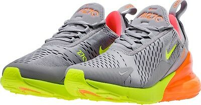 RARE Nike Men's Air Max 270 Running Shoes AH8050-012 Grey Volt Orange