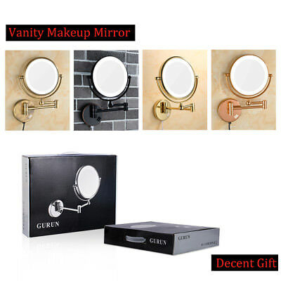 LED Lighted 10X/5X Magnification Vanity Makeup Mirrors with electrical plug Gift