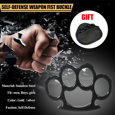 Iron Four Fingers Fist Rings Boxing Tools for self defense Emergency FR