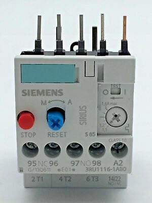 Siemens 3RU1116-1AB0 Overload Relay Suit 1.1-1.6A 6kV 690V Made In Germany