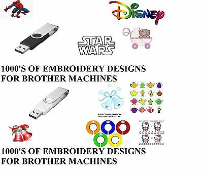 1000's Of Embroidery Designs On Usb Pes Format Brother Babylock Bernina Machines