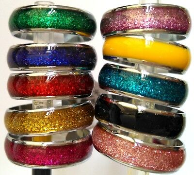 Job lots 50pcs Color mix 6mm Men Women Beautiful Charm Rings Party Favor Jewelry