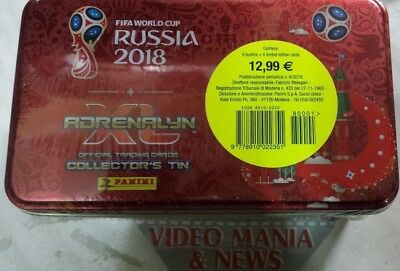 Tin Metal Box 2018 Fifa World Cup Russia  Adrenalyn Xl 6 Pack +4 Lmt Edit.panini