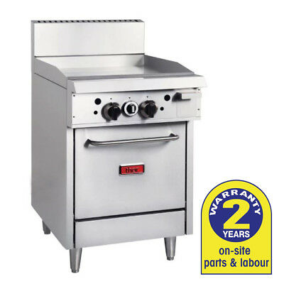 Gas Oven with 600mm Griddle LPG Grill Smooth BBQ / Hotplate Thor Commercial NEW