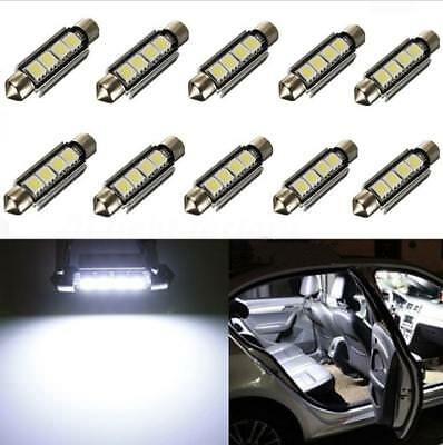 20x 36mm 3SMD 5050 6418 C5W CANBUS Error Free LED Bulb License Plate Dome