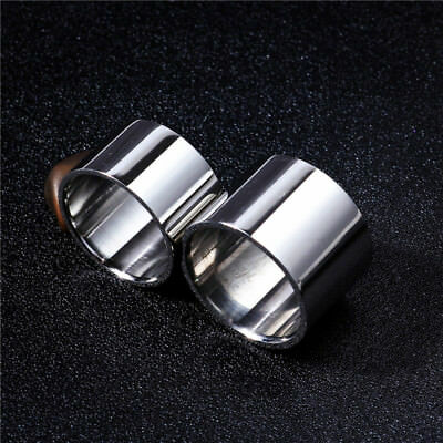 14mm/18mm Silver Polished Band Men's Jewelry 316L Stainless Steel Ring Size 6-14