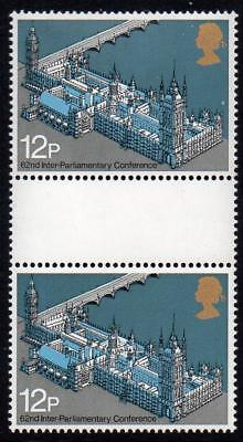 Gb Mnh 1975 Sg988 62Nd Inter-Parliamentary Union Conf Gutter Pair