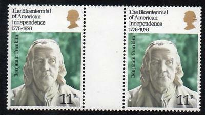 Gb Mnh 1976 Sg1005 Bicentenary Of American Revolution Gutter Pair