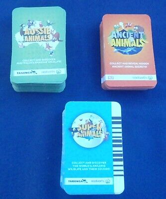 Woolworths Ancient & Green & Super Aussie Animal Cards 5 for $1