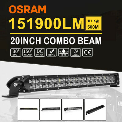 21inch LED Light Bar Spot Flood Combo Driving For Ford Offroad Reverse Work Boat