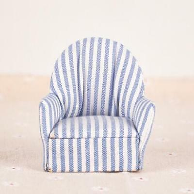 1:12 dollhouse miniature furniture stripe sofa chair for bed room living room GT