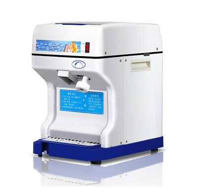 Electric Commercial Snow Cone Machine Ice Maker Ice Shaver Snow Crusher 220V H