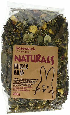 Rosewood Natural Natures Salad Treat For  Rabbits Guinea Pig & Chinchilla 200g