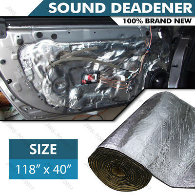 "118""x39"" Sound Deadener Car Heat Shield Insulation Deadening Material Mat USA"