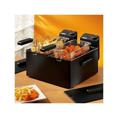 Friteuse à double compartiment Princess 183028 6 L 3600W Noir