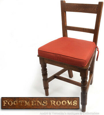 Antique HALL FOOTMENS CHAIR from KING'S INNS Dublin Irish Law Oak Child's Rooms
