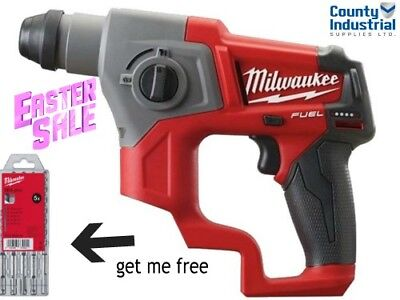 Milwaukee M12CH-0 COMPACT SDS DRILL BODY ONLY - WITH FREE SDS BIT SET