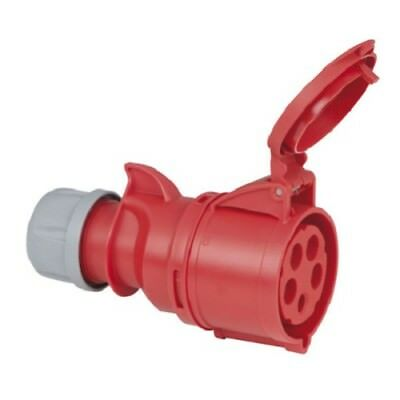 025-6 Ip44 Pce Red 32a 400v 5p Cee Industrial Plug
