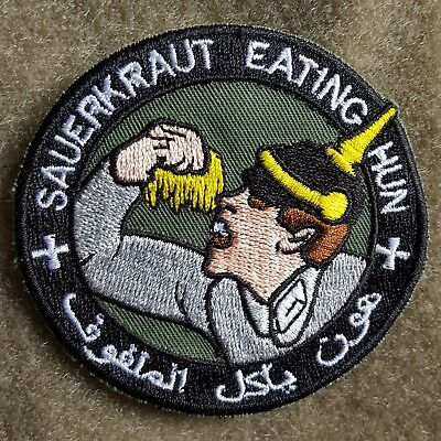 Sauerkraut Eating Hun Us Army Isaf Tactical Morale  Aufnäher Klett Patch Airsoft