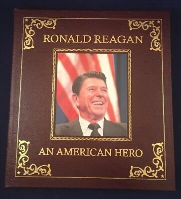 Ronald Reagan An American Hero Easton Press Leather Collectors Edition