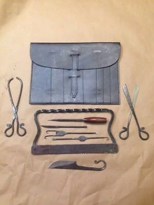 Early Period Hand Forged Surgical Set with Case