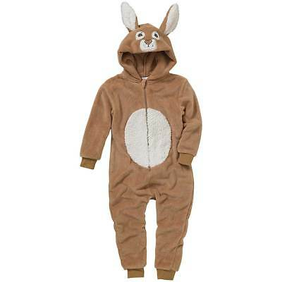 World Book Day Rabbit 1Onesie Onezi Boys Girls Fleece Hooded Novelty Peter Brown